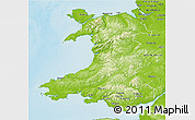 Physical 3D Map of Wales