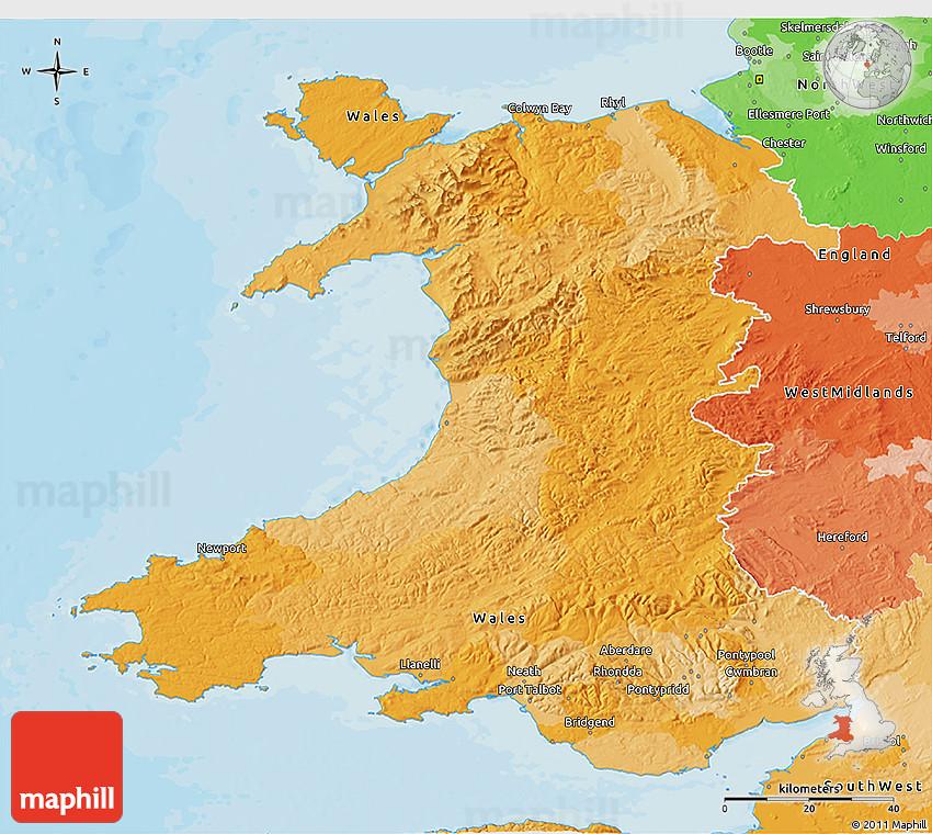 Political 3d map of wales 2d 64 3d 64 gumiabroncs Choice Image