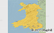 Savanna Style 3D Map of Wales