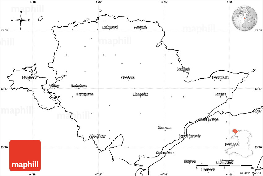Blank simple map of isle of anglesey sir ynis mon gumiabroncs Gallery