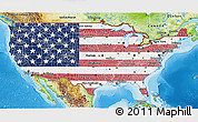 Flag 3D Map of United States, physical outside