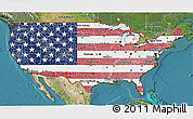 Flag 3D Map of United States, satellite outside
