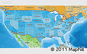 Political Shades 3D Map of United States