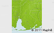 Physical 3D Map of Baldwin County