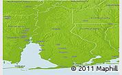 Physical Panoramic Map of Baldwin County