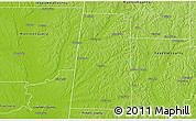 Physical 3D Map of Lamar County