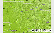 Physical Map of Lamar County