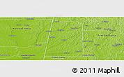 Physical Panoramic Map of Lamar County