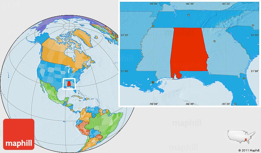 political map of alabama bnhspinecom