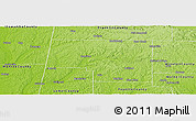 Physical Panoramic Map of Marion County