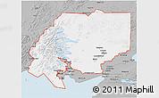 Gray 3D Map of ZIP code 00001