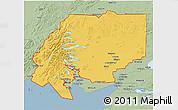 Savanna Style 3D Map of ZIP code 00001