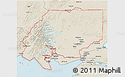 Shaded Relief 3D Map of ZIP code 00001