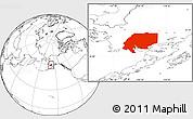 Blank Location Map of ZIP code 00001