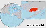 Gray Location Map of ZIP code 00001