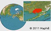 Satellite Location Map of ZIP code 00001