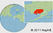 Savanna Style Location Map of ZIP code 00001