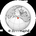 Outline Map of ZIP Code 00001