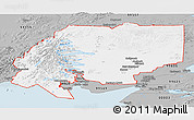 Gray Panoramic Map of ZIP code 00001