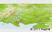 Physical Panoramic Map of ZIP code 00001