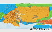 Political Panoramic Map of ZIP code 00001
