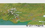 Satellite Panoramic Map of ZIP code 00001