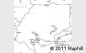 Blank Simple Map of ZIP code 00001