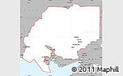 Gray Simple Map of ZIP code 00001