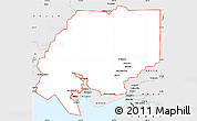 Silver Style Simple Map of ZIP code 00001