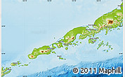 Physical Map of Aleutians East Borough