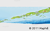 Physical Panoramic Map of Aleutians East Borough