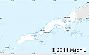 Silver Style Simple Map of Aleutians East Borough