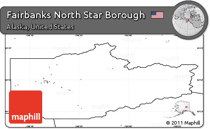 Free Blank Simple Map of Fairbanks North Star Borough no labels