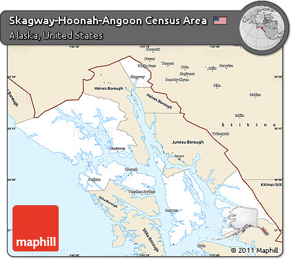 Free Classic Style Simple Map Of Skagway Hoonah Angoon Census Area