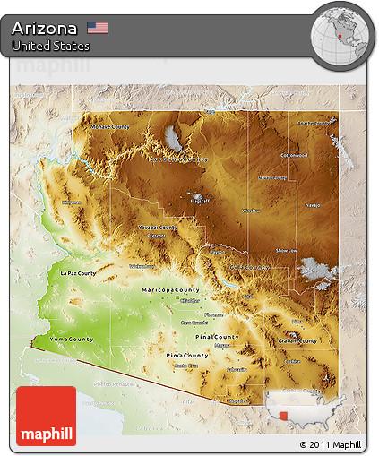 3d Map Of Arizona.Free Physical 3d Map Of Arizona Lighten