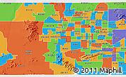Political 3D Map of ZIP code 85037