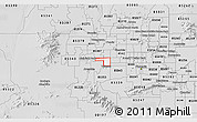 Silver Style 3D Map of ZIP code 85037