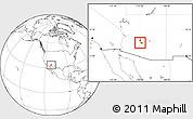 Blank Location Map of ZIP code 85037
