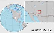 Gray Location Map of ZIP code 85037