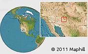 Satellite Location Map of ZIP code 85037