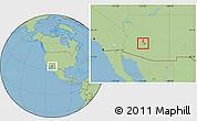 Savanna Style Location Map of ZIP code 85037