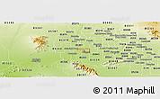 Physical Panoramic Map of ZIP code 85037