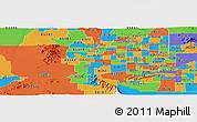 Political Panoramic Map of ZIP code 85037
