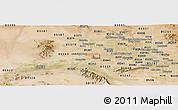 Satellite Panoramic Map of ZIP code 85037