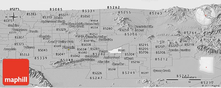 gilbert zip code map 2011
