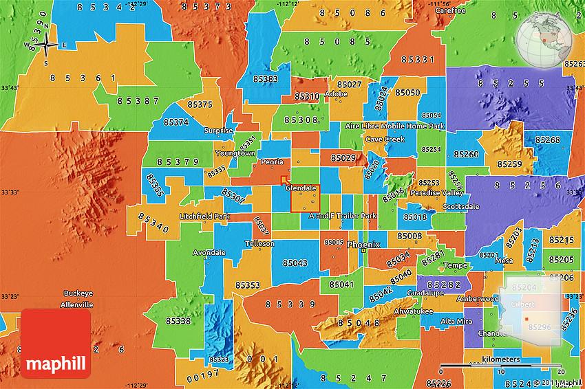 Political Map of ZIP Code 85301