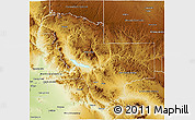 Physical 3D Map of Gila County