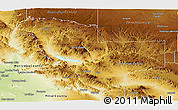 Physical Panoramic Map of Gila County