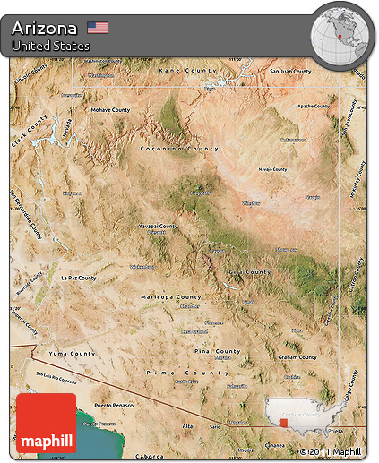 Satellite Map Of Arizona.Free Satellite Map Of Arizona
