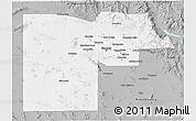 Gray 3D Map of Maricopa County